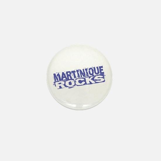 Martinique Rocks Mini Button
