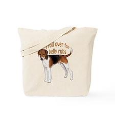 American foxhound belly rub Tote Bag