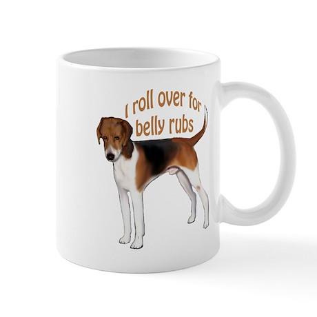 American foxhound belly rub Mug