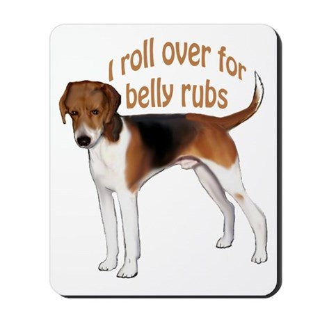 American foxhound belly rub Mousepad