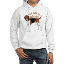 American foxhound belly rub Hoodie