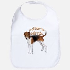 American foxhound belly rub Bib