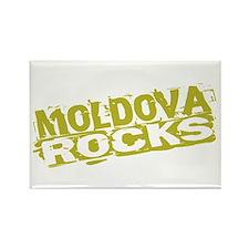 Moldova Rocks Rectangle Magnet