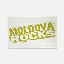 Moldova Rocks Rectangle Magnet