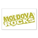 Moldova Rocks Rectangle Sticker