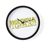 Moldova Rocks Wall Clock