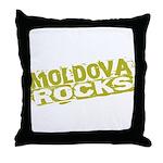 Moldova Rocks Throw Pillow