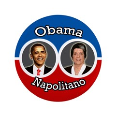Obama-Napolitano Campaign Button