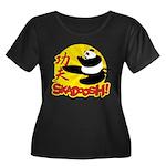 Skadoosh Women's Plus Size Scoop Neck Dark T-Shirt