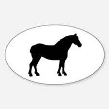 Draft Horse Oval Decal