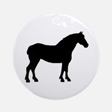 Draft Horse Ornament (Round)
