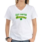 East Compton Clovers Women's V-Neck T-Shirt