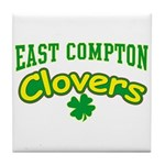 East Compton Clovers Tile Coaster