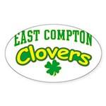 East Compton Clovers Oval Sticker