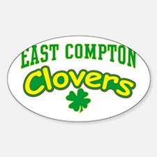 East Compton Clovers Oval Decal