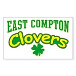East Compton Clovers Rectangle Sticker