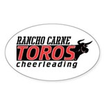 Rancho Carne Toros Oval Sticker