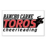 Rancho Carne Toros Rectangle Sticker