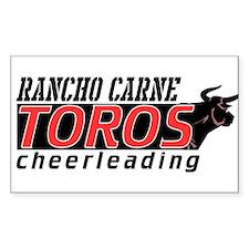 Rancho Carne Toros Rectangle Decal