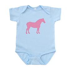 Pink Draft Horse Infant Bodysuit