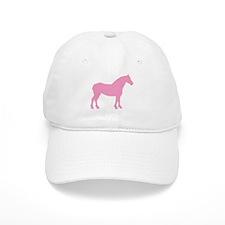 Pink Draft Horse Baseball Cap
