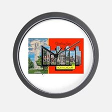 Raleigh North Carolina Greetings Wall Clock