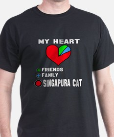 My Heart friends, family and Singapur T-Shirt