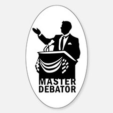Master Debator Oval Decal