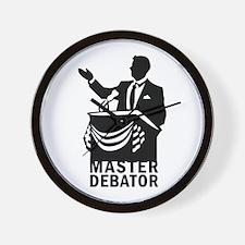 Master Debator Wall Clock