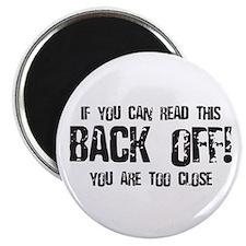 """Back off! 2.25"""" Magnet (10 pack)"""