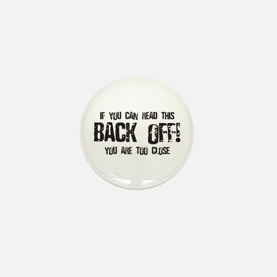 Back off! Mini Button