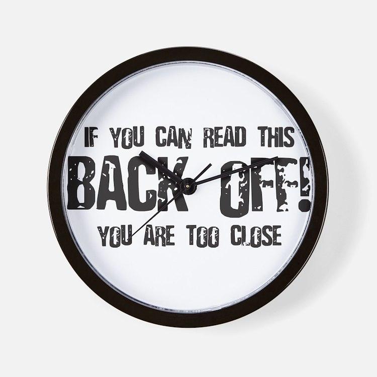 Back off! Wall Clock