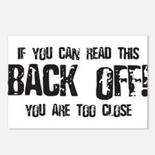 Back off! Postcards (Package of 8)