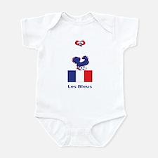 """Whooligan France """"Les Bleus"""" Infant Bodysuit"""