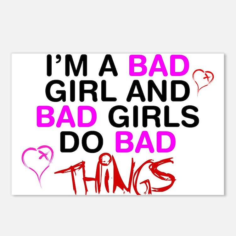 bad girl postcards bad girl post card design template. Black Bedroom Furniture Sets. Home Design Ideas