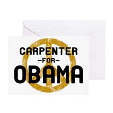 Carpenter for Obama Greeting Cards (Pk of 10)