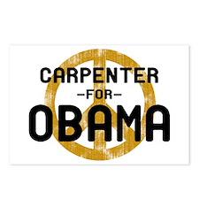 Carpenter for Obama Postcards (Package of 8)
