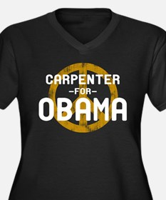 Carpenter for Obama Women's Plus Size V-Neck Dark