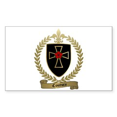 COUTURE Family Crest Rectangle Decal