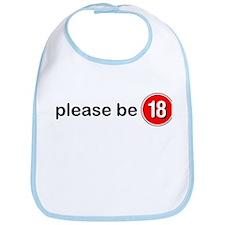 Please Be 18 Bib