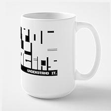Aspergers Attitude in block code - Mug