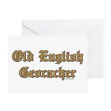 Old English Geocacher Greeting Card