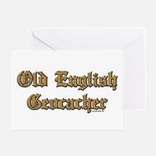 Old English Geocacher Greeting Card
