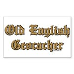 Old English Geocacher Rectangle Sticker