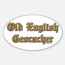 Old English Geocacher Oval Decal