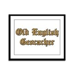 Old English Geocacher Framed Panel Print