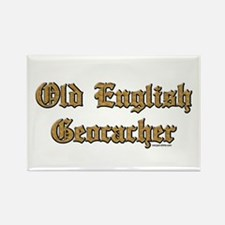 Old English Geocacher Rectangle Magnet