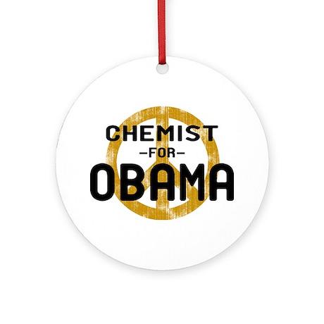 Chemist for Obama Ornament (Round)