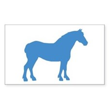 Blue Draft Horse Rectangle Decal