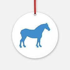Blue Draft Horse Ornament (Round)